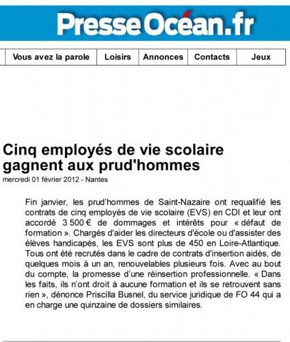 2012-02-01 Presse Océan AVS en CDI procés gagné.jpg