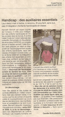 2010-04-26 AVS article Ouest France.JPG